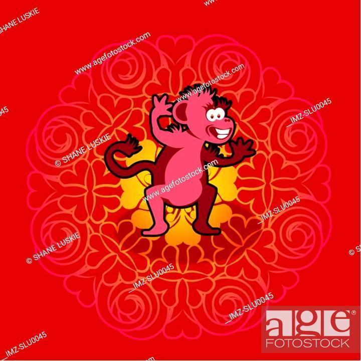Stock Photo: Chinese new year symbol of monkey.