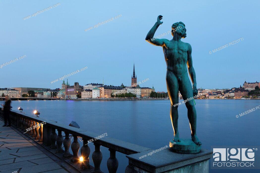 Imagen: View of Gamla Stan (Old city) in Stockholm, Sweden.