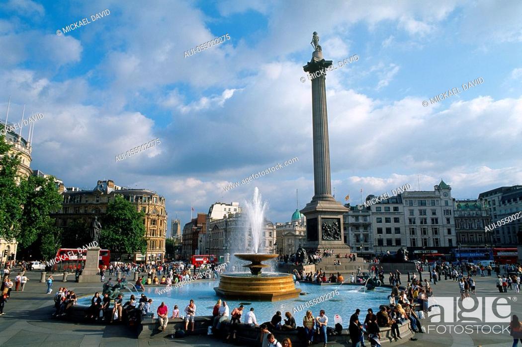 Stock Photo: England - London - St Jame's district - Trafalgar Square.