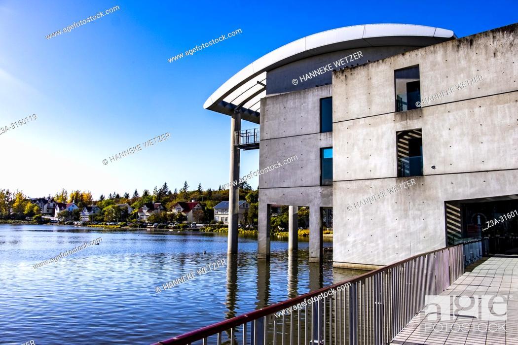 Stock Photo: Reykjavík City Hall, Iceland.