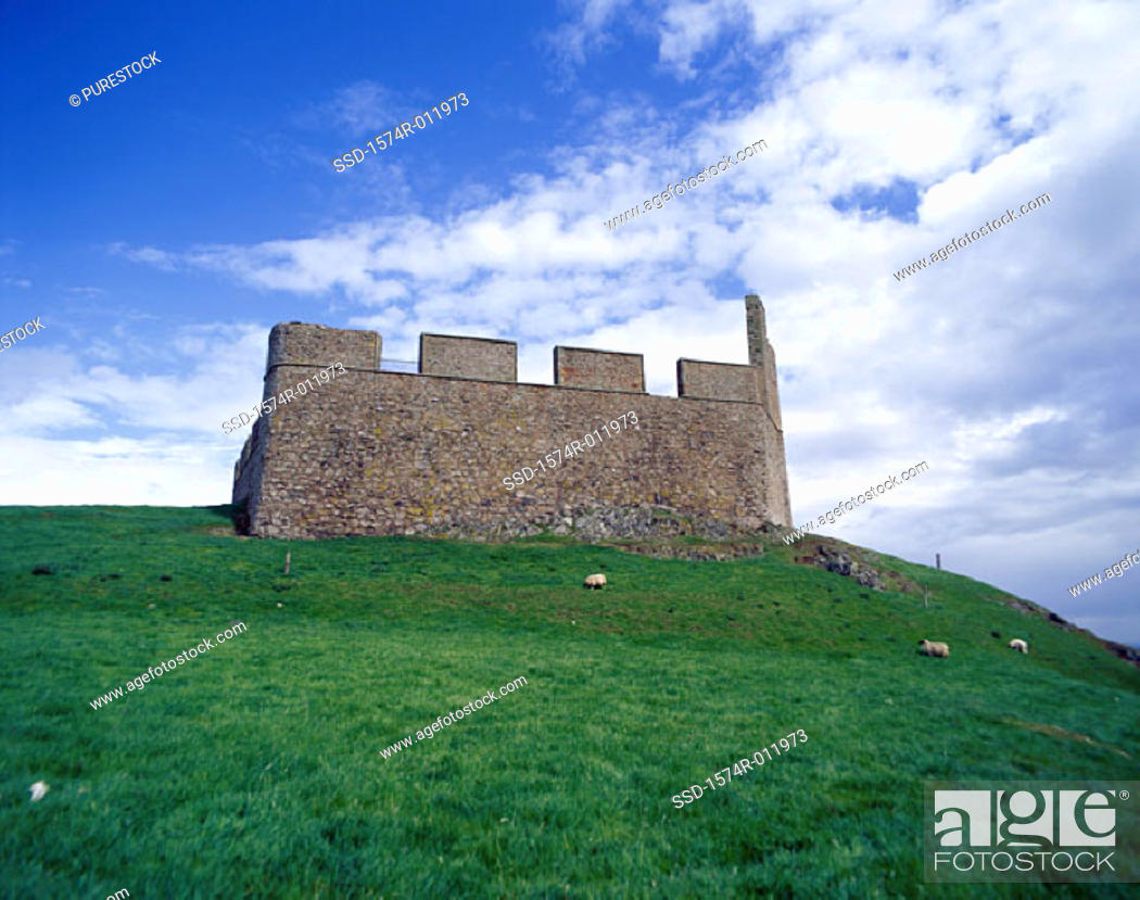 Stock Photo: Hume Castle Near Greenlaw Scotland.