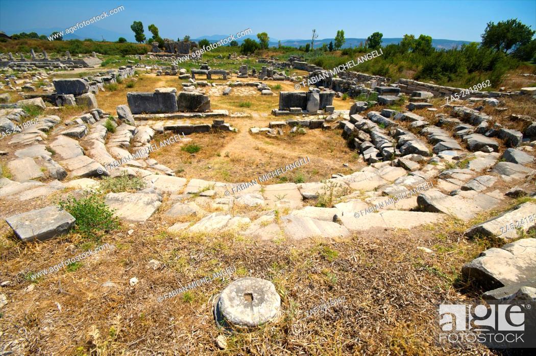Stock Photo: Ruins of The Bouleuterion. Miletos. Anatolia, Turkey.