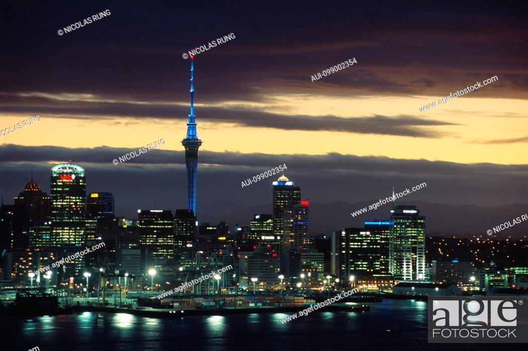 Stock Photo: New Zealand - North Island - Auckland - Waitemayta Harbor.