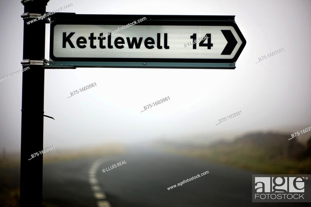 Stock Photo: Kettlewell, Skipton, Yorkshire Dales, England.