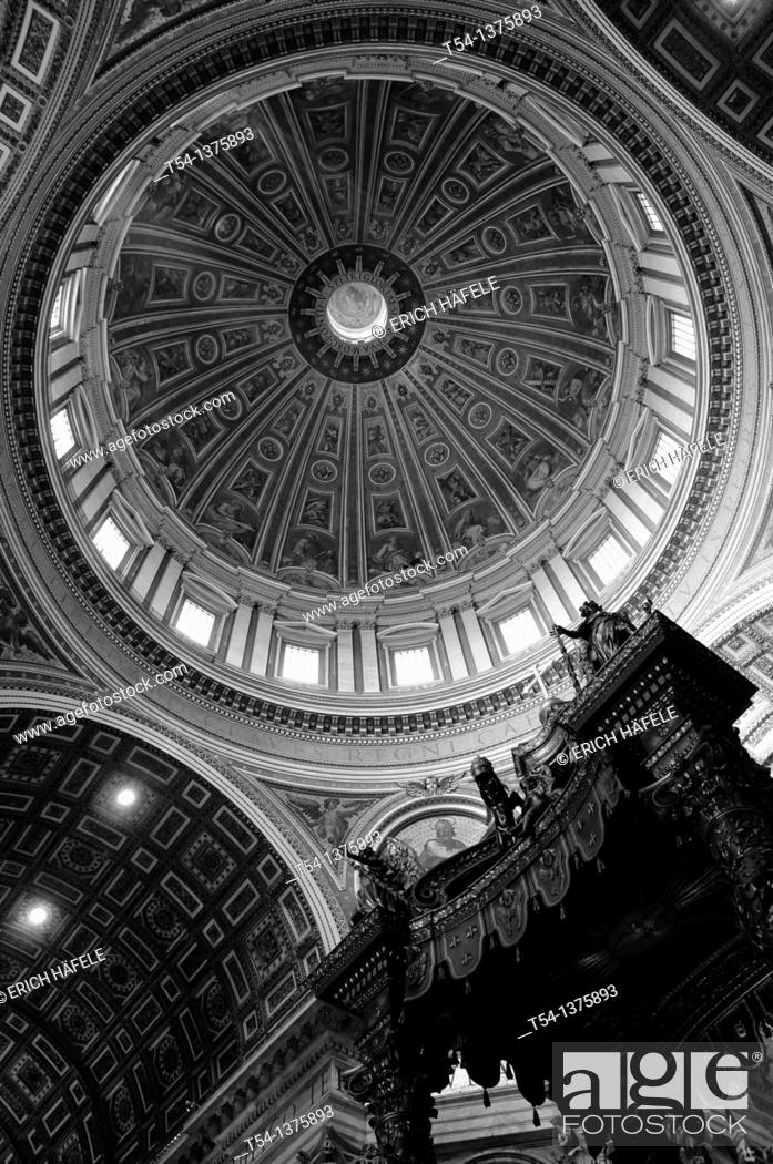 Stock Photo: View in the Dome of Saint Peter's Basilica.