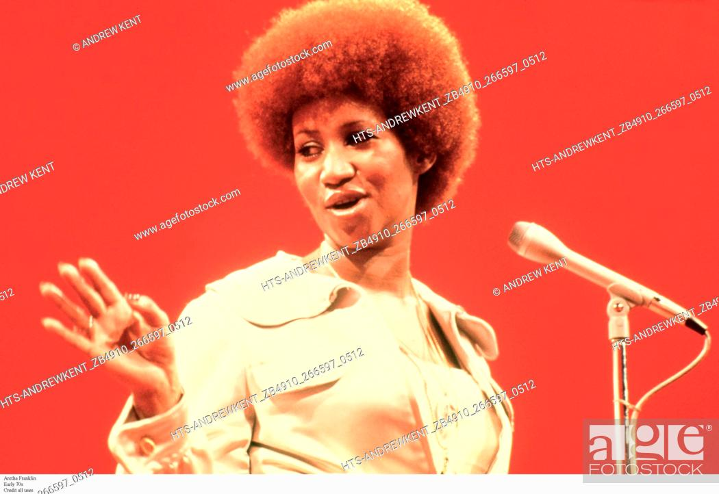 Stock Photo: Aretha Franklin Early 70s Credit all uses.