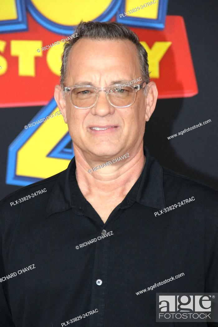 """Stock Photo: Tom Hanks at the Disney/Pixar's World Premiere of """"""""Toy Story 4"""""""". Held at the El Capitan Theater in Hollywood, CA, June 11, 2019."""