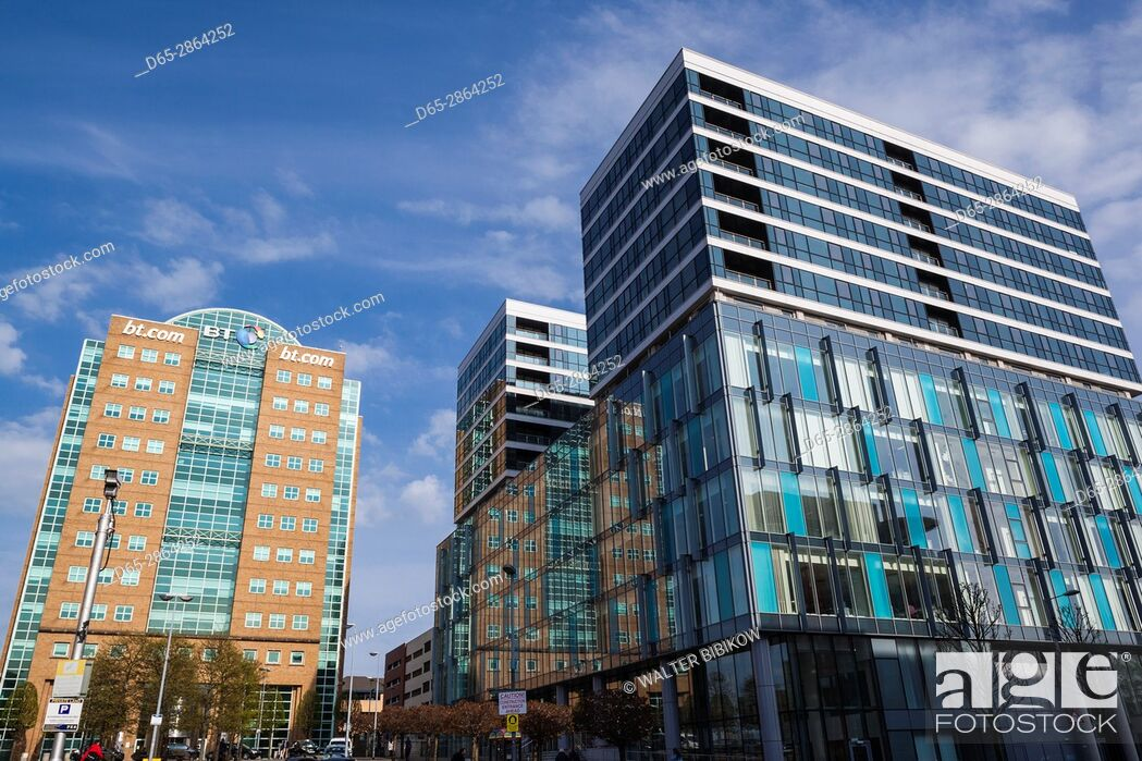 Stock Photo: UK, Northern Ireland, Belfast, office buildings at Lanyon Place.