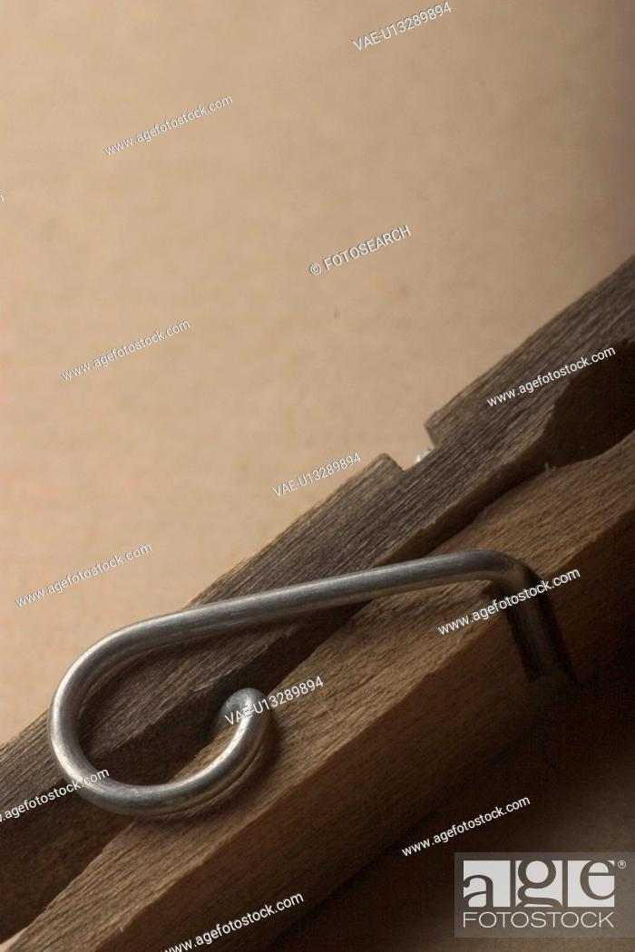 Stock Photo: peg, pin, clothes peg, clothes pin, fastener.