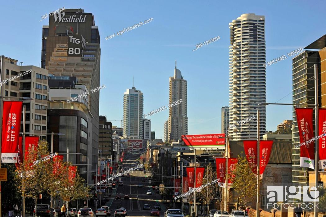 William Street, Sydney, New South Wales, Australia, Stock
