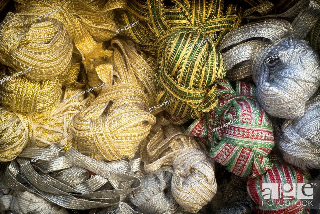 Imagen: Haberdashery products. Medina of Fez, Morocco, Africa.