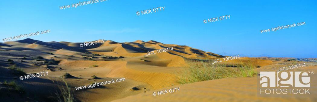 Stock Photo: Sand dunes in the desert.