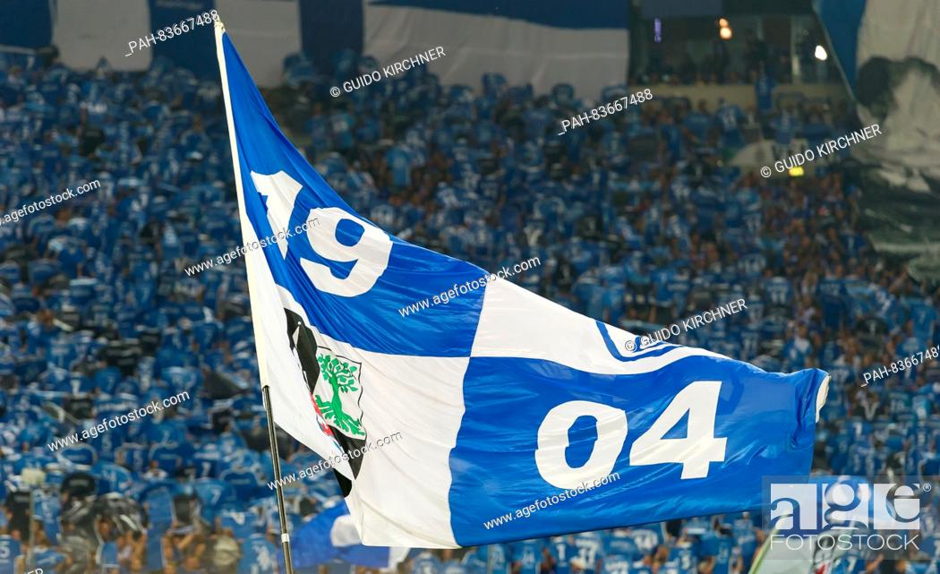 Schalke S Fans Waving A Flag During The Bundesliga Soccer Match Between Fc Schalke 04 And Bayern Stock Photo Picture And Rights Managed Image Pic Pah 83667488 Agefotostock