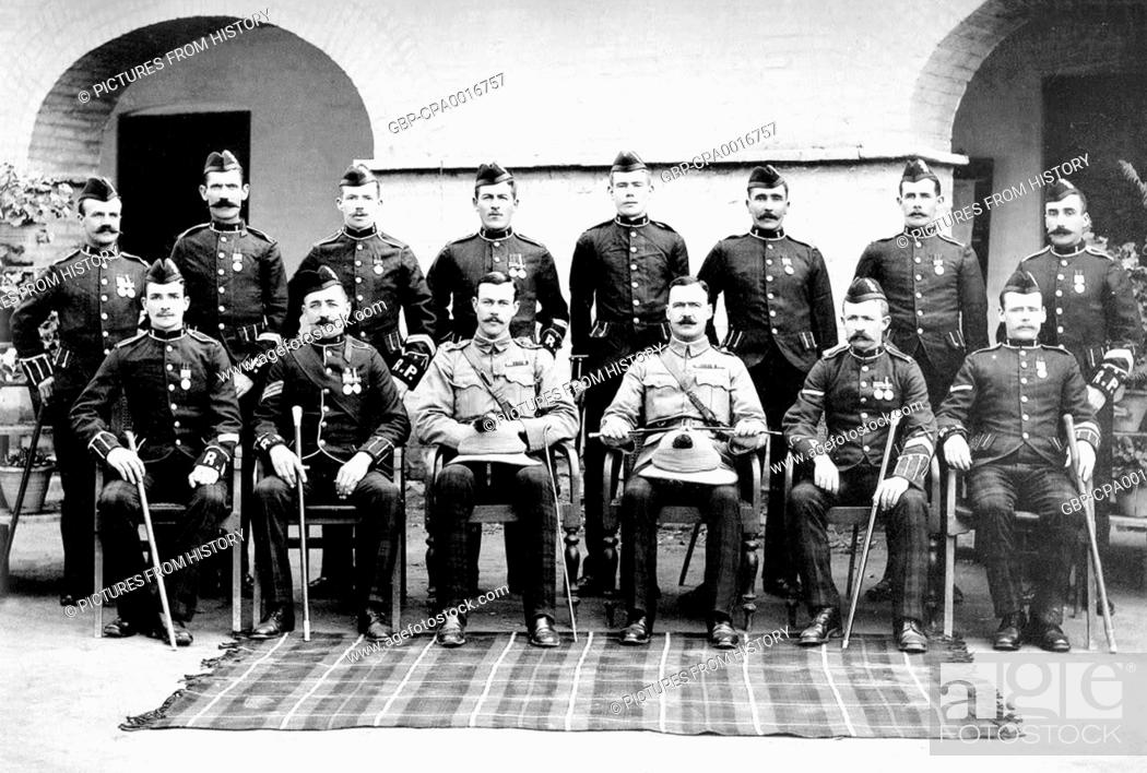 Pakistan / India: A group of Black Watch regimental police