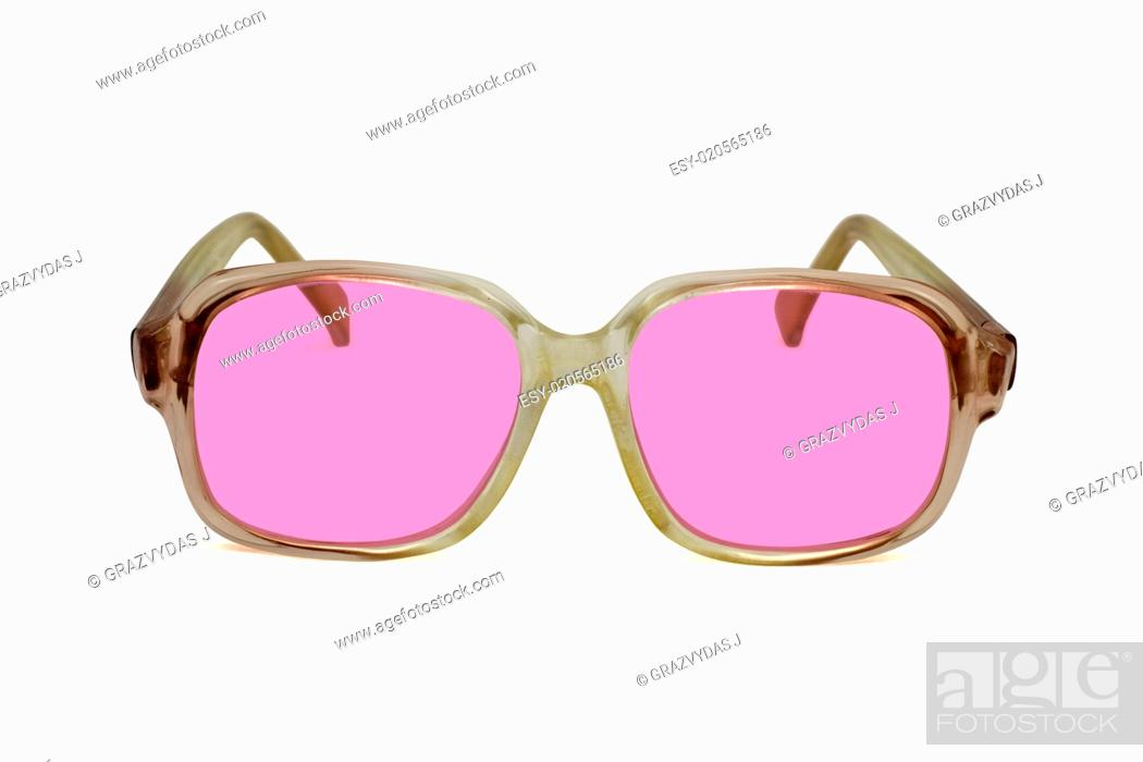 Stock Photo: pink sunglasses.