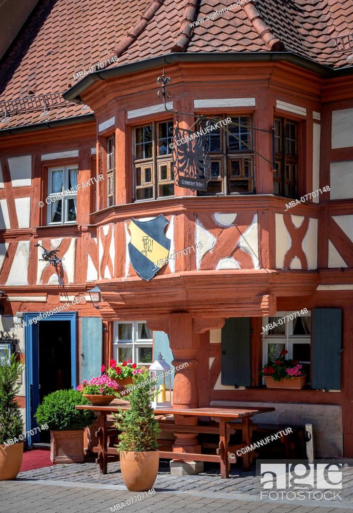 Stock Photo: Old inn in Franconia.