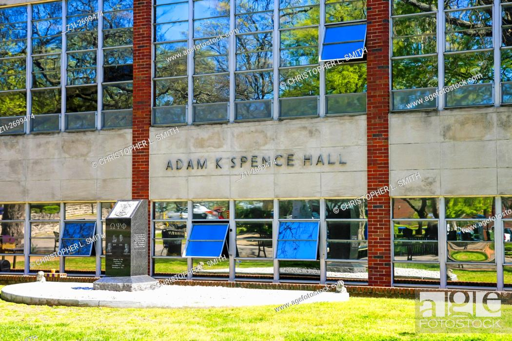 Stock Photo: The Adam C. Spencer Hall building on Fisk University campus in Nashville TN.