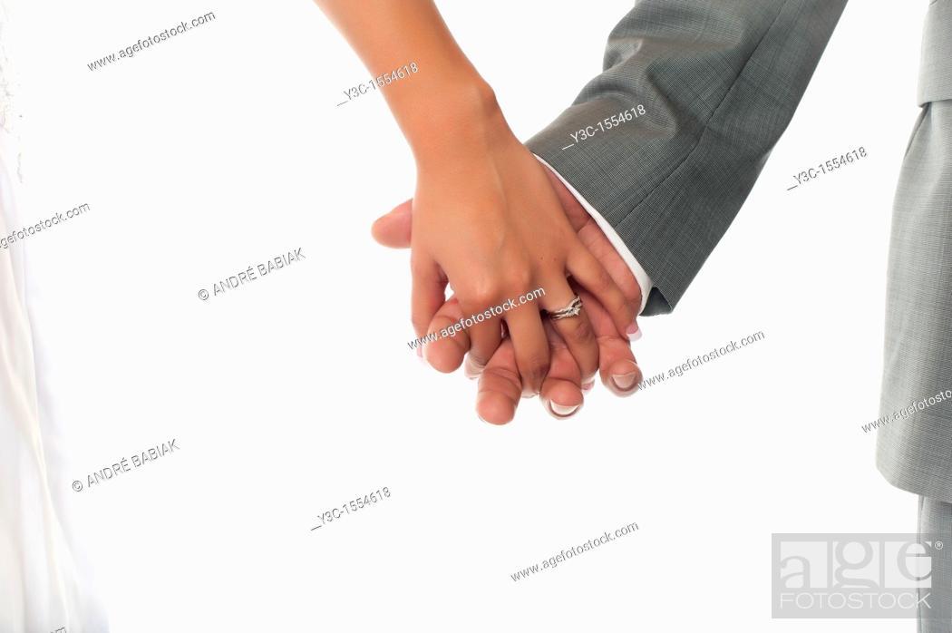 Stock Photo: Bride and Groom Newlyweds.