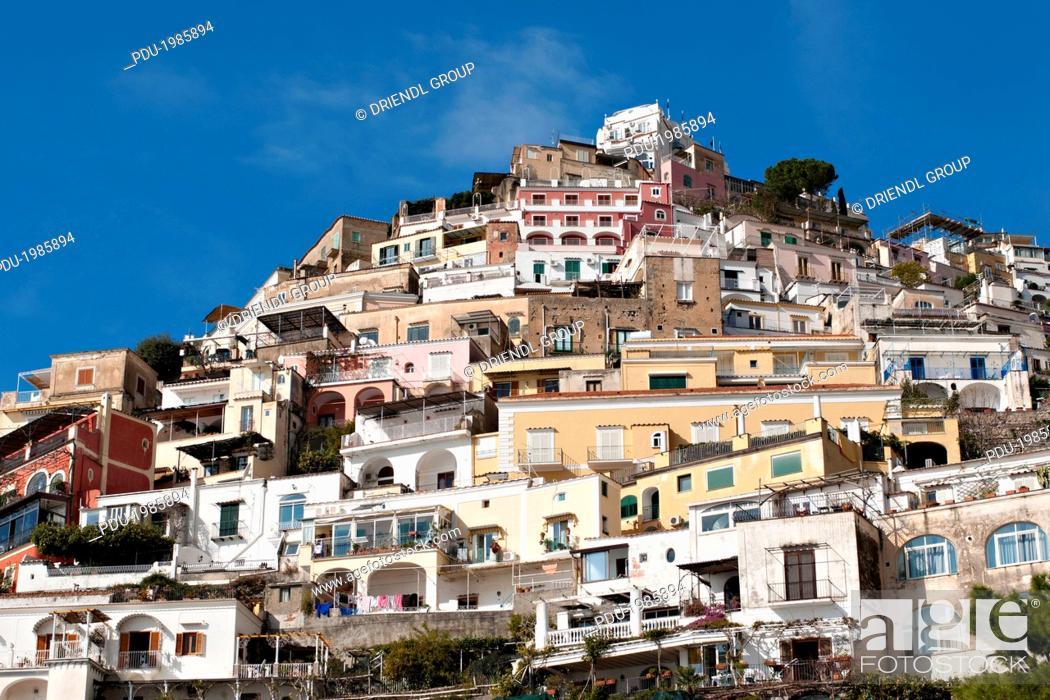 Stock Photo: The town of Positano.