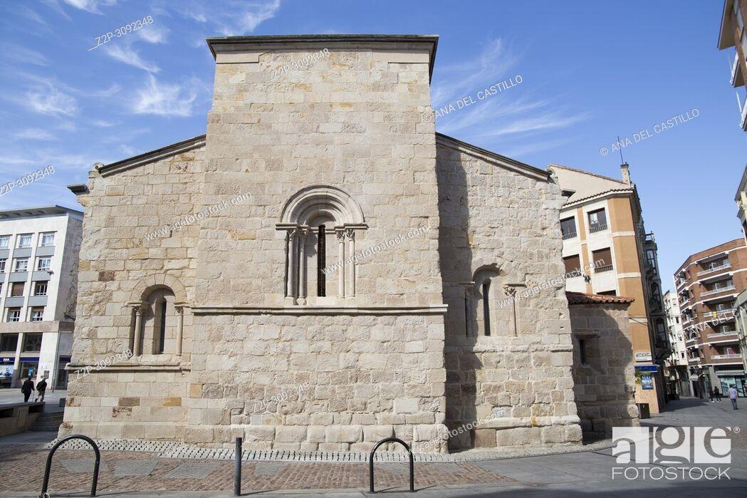 Stock Photo: San Antolin church in Zamora Castile and Leon Spain.