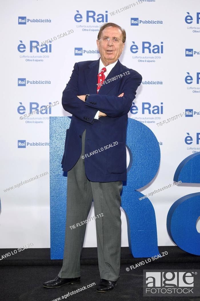 Stock Photo: Michele Mirabella during the Rai programming launch in Milan, ITALY-09-07-2019.