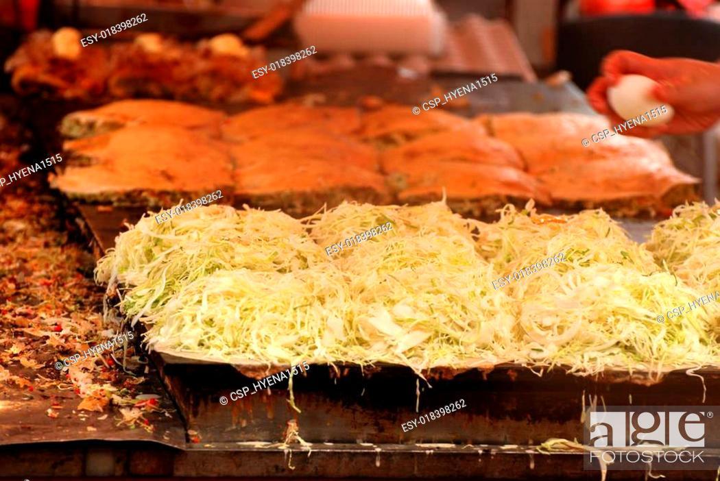 Stock Photo: The Okonomiyaki japanese.