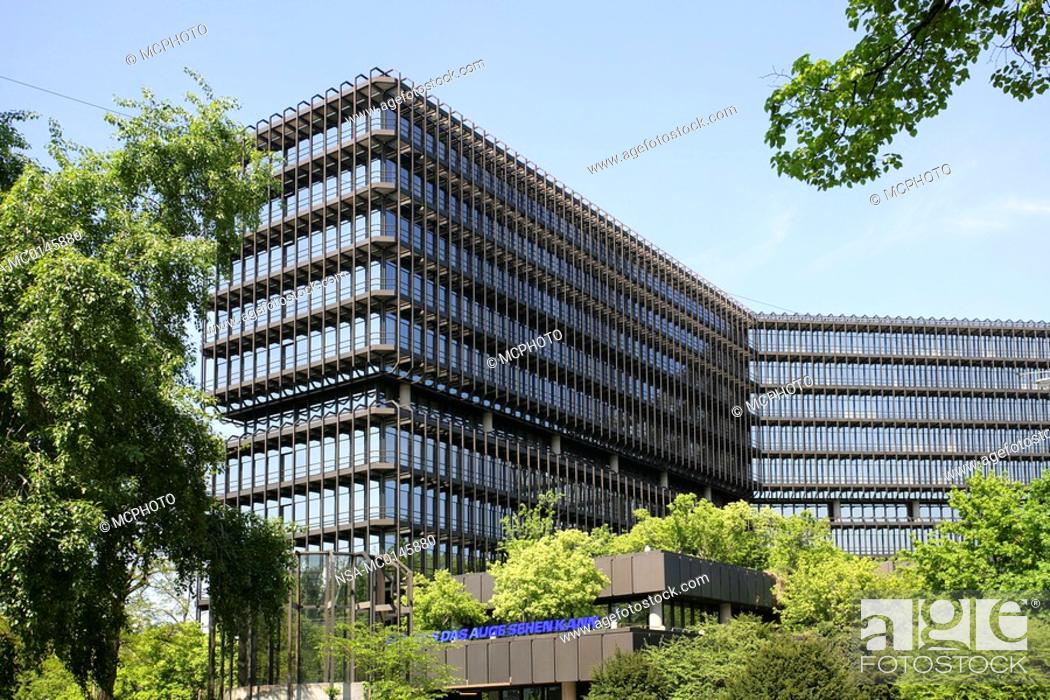 Stock Photo: Germany Bavaria Munich buildings European Patent Office exterior.