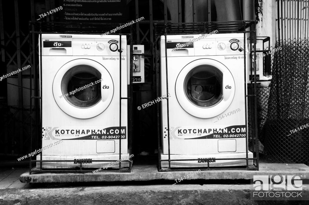 Stock Photo: Laundry in Bangkok.