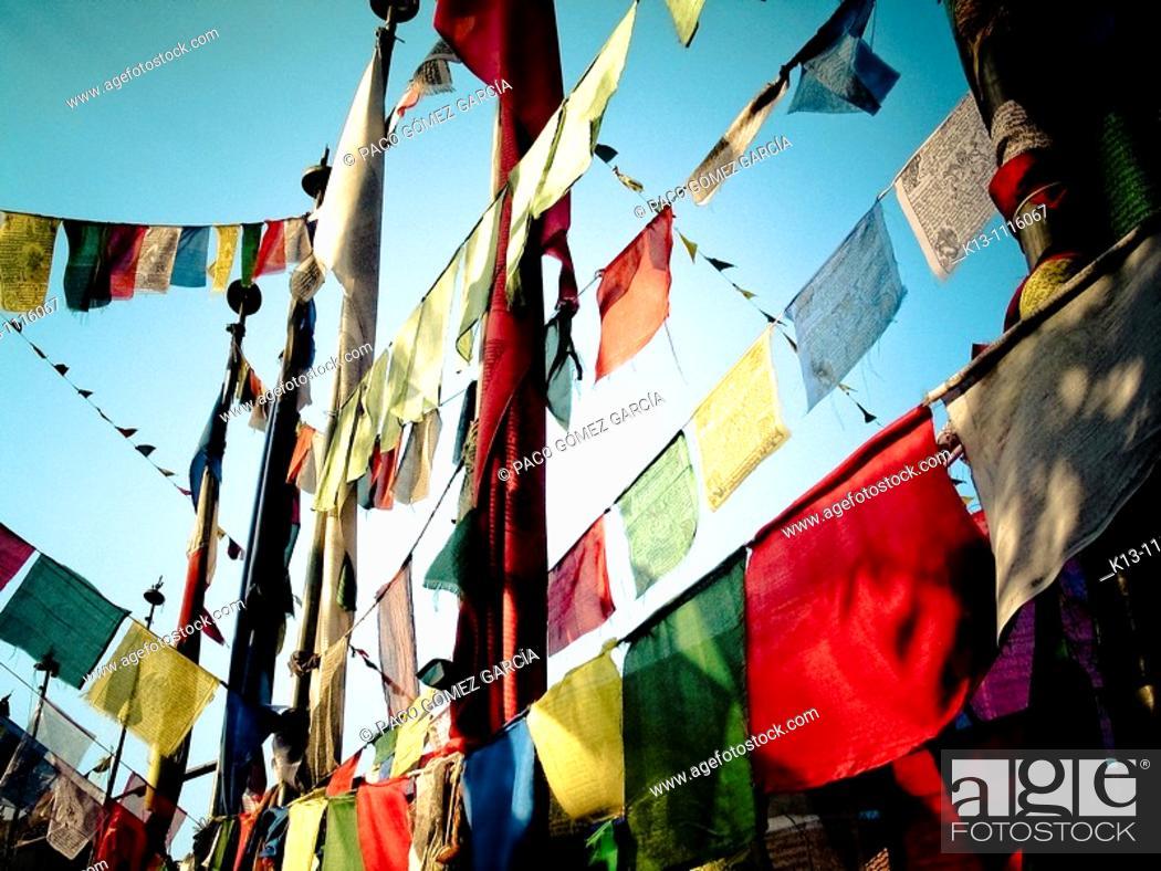 Stock Photo: Swayambhunath (aka Monkey Temple), Kathmandu Valley, Nepal.
