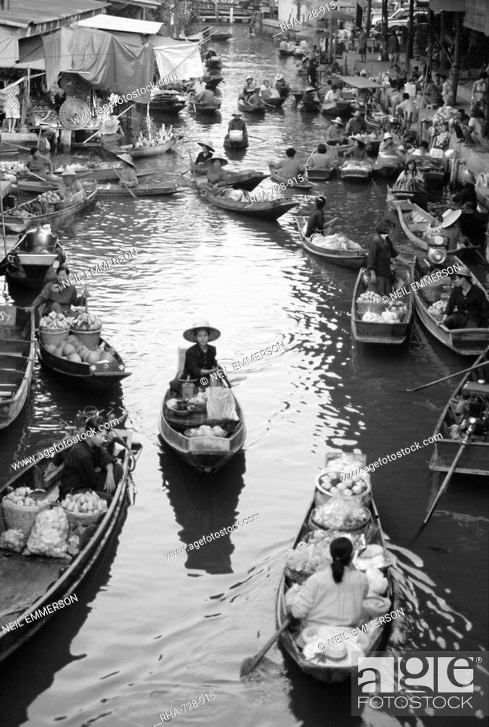 Stock Photo: Floating Market, Bangkok, Thailand.