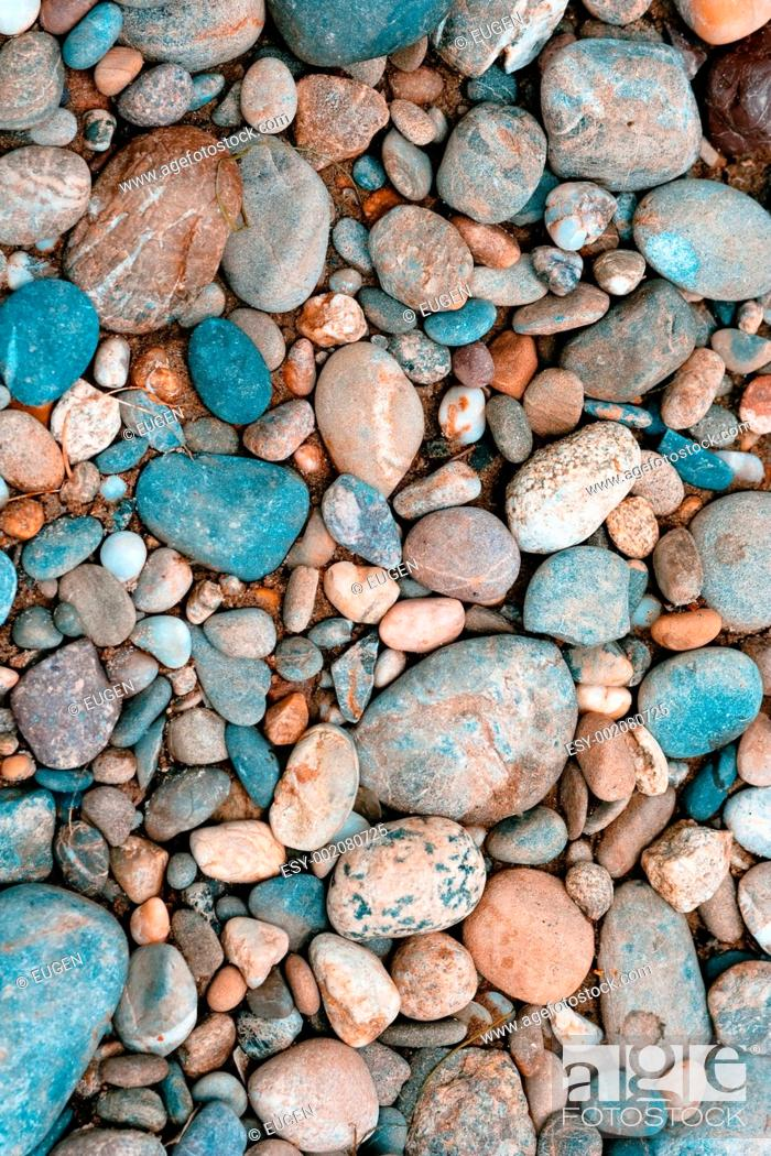 Imagen: Color pebble collected in Germany.