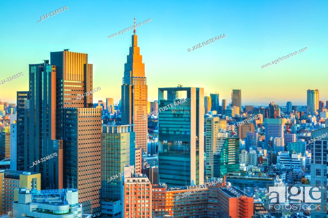 Imagen: Japan, Tokyo City, Shinjuku ward, Shinjuku Station South Side skyline.