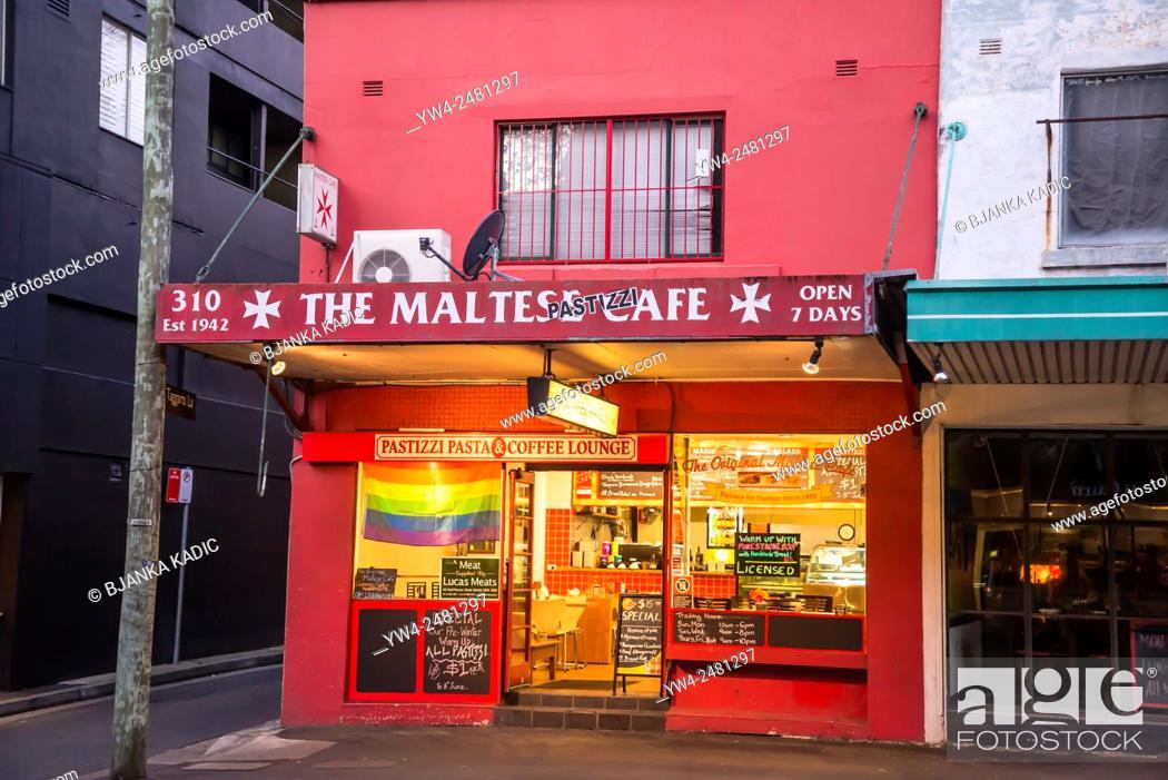 Stock Photo: Maltese Cafe, Surry Hills, Sydney, Australia.