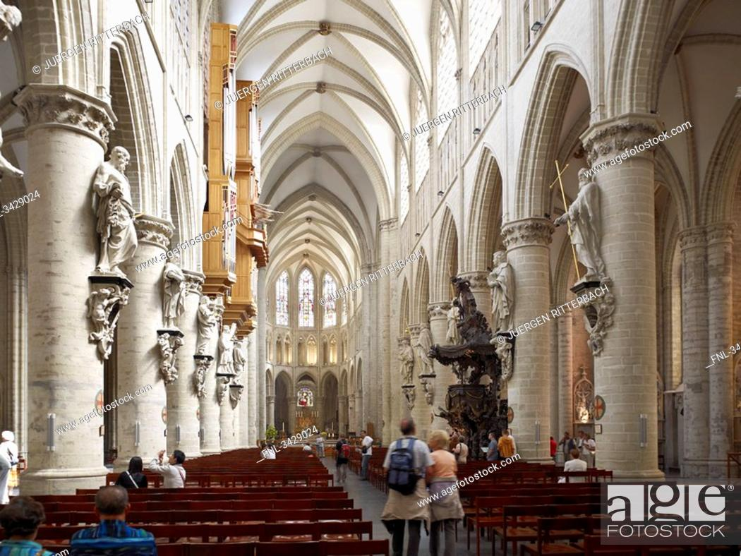Imagen: Cathedral St. Michael and St. Gudula, Brussels, Belgium, Europe.