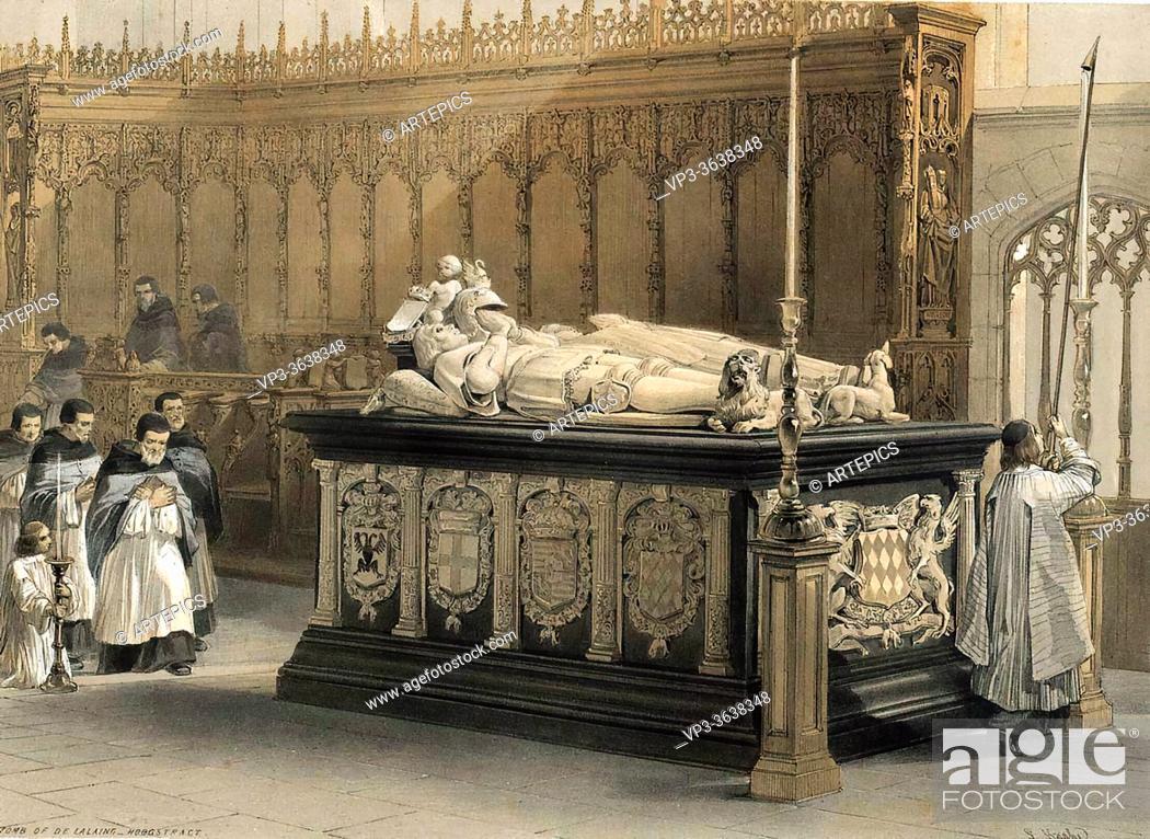 Imagen: Haghe Louis - Tomb De Lalaing Hoogstract - Belgian School - 19th Century.
