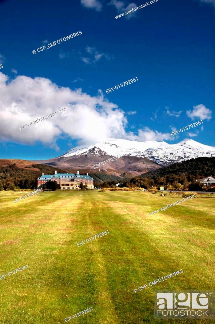 Stock Photo: Chateau Tongariro in Tongariro National Park.