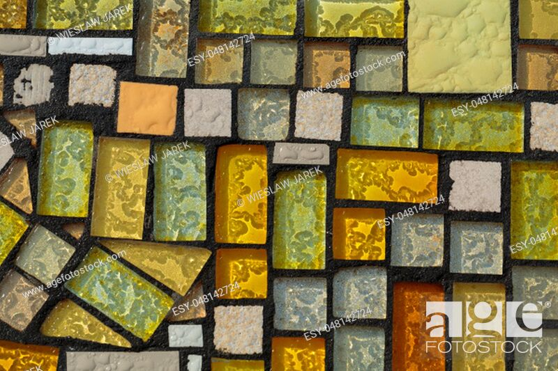 Stock Photo: Glossy mosaic. Abstract seamless background.