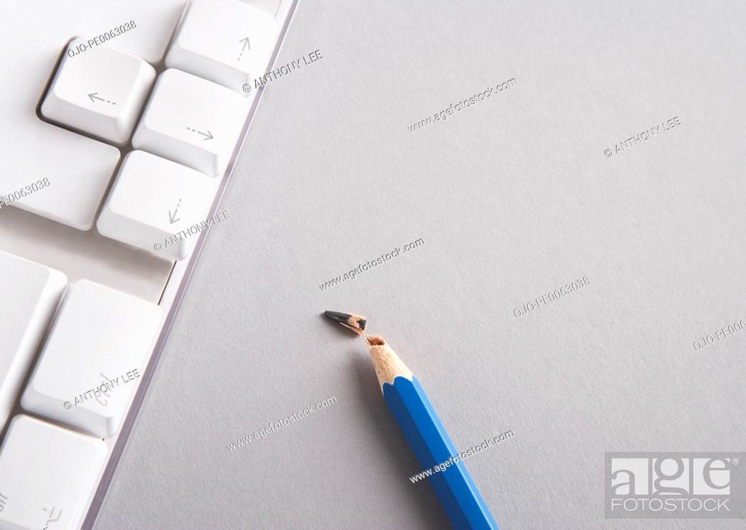 Stock Photo: Close up of broken pencil lead.