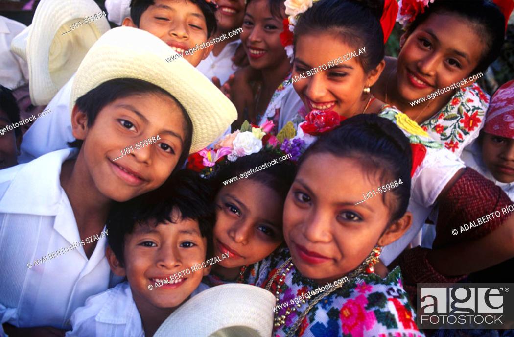 Stock Photo: Mayan Children.