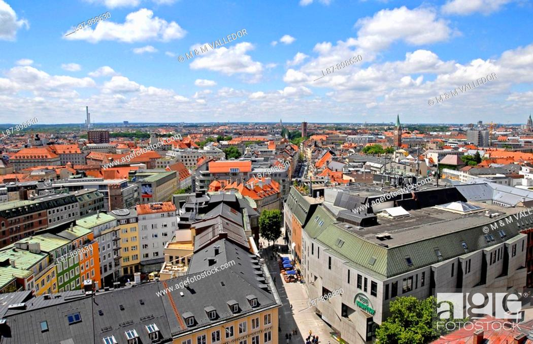 Stock Photo: aerial view of Munich,bavaria,germany.