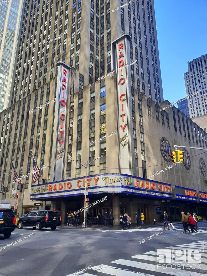 Imagen: Radio city music hall, Manhattan. New York. USA.
