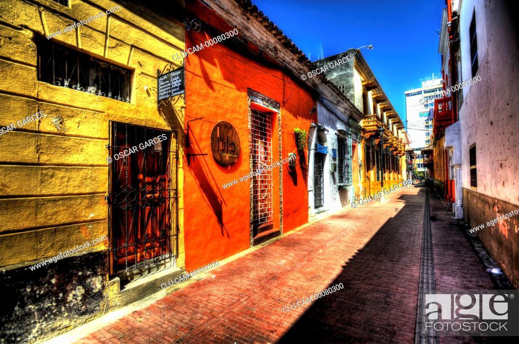 Stock Photo: Historical Center, Santa Marta, Magdalena, Colombia.
