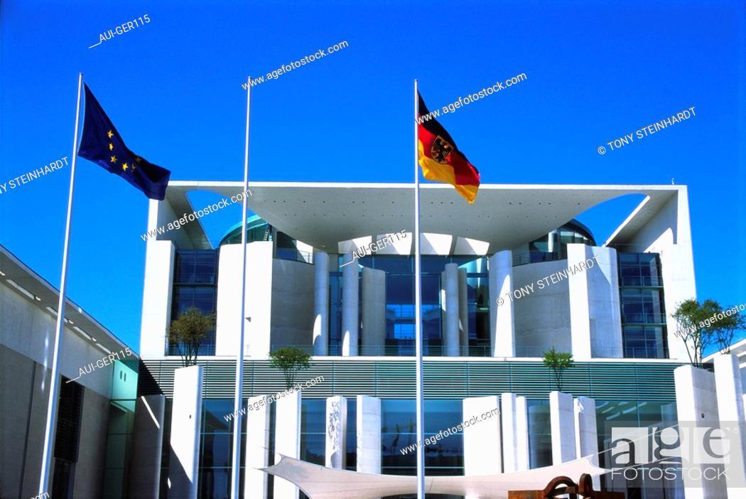 Stock Photo: Germany - Berlin - Chancellery.