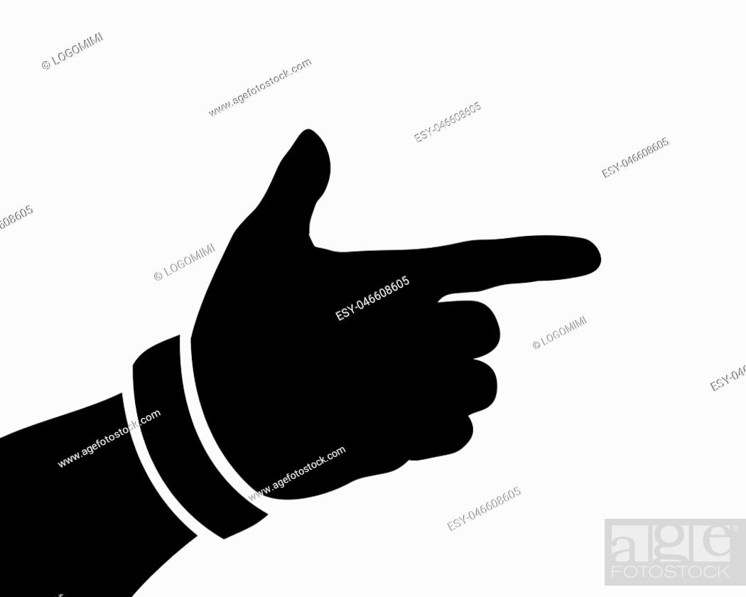 black hand silhouette form a gun or pistol vector illustration stock vector vector and low budget royalty free image pic esy 046608605 agefotostock 2
