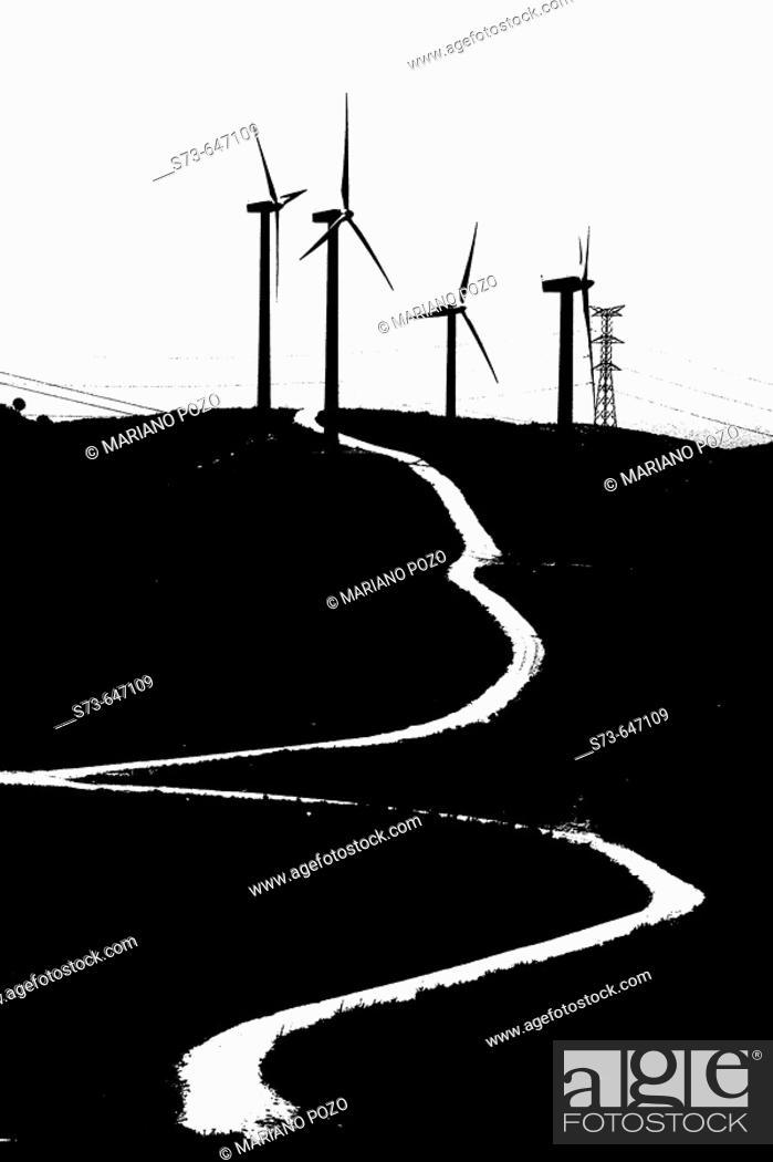 Stock Photo: Wind generators. Tarifa. Cádiz province. Spain.