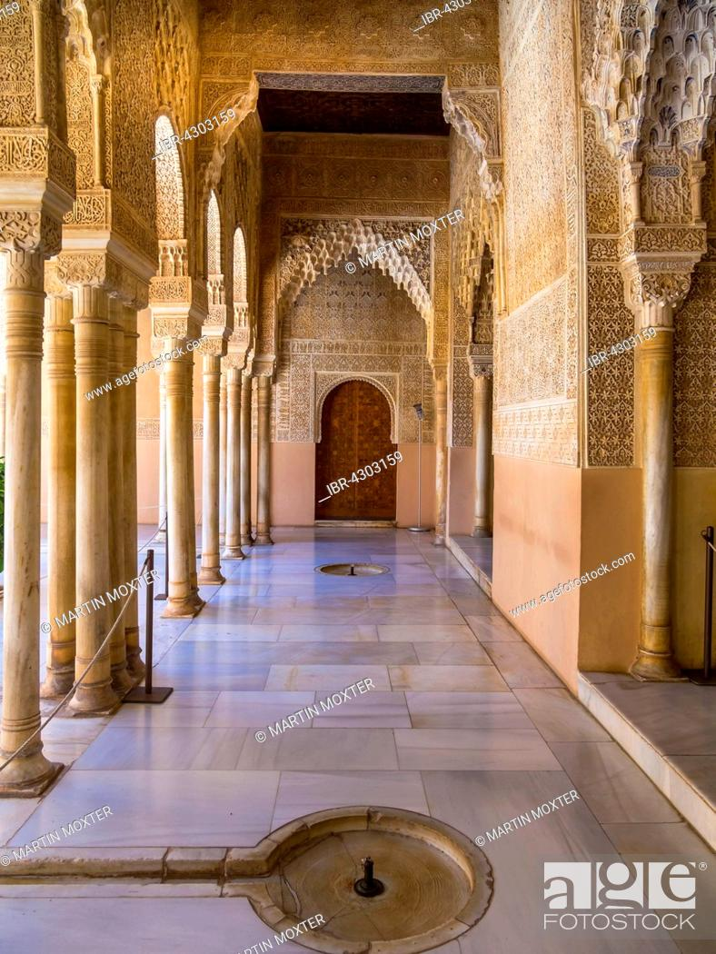 arabesque moorish architecture court of the lions nasrid alhambra