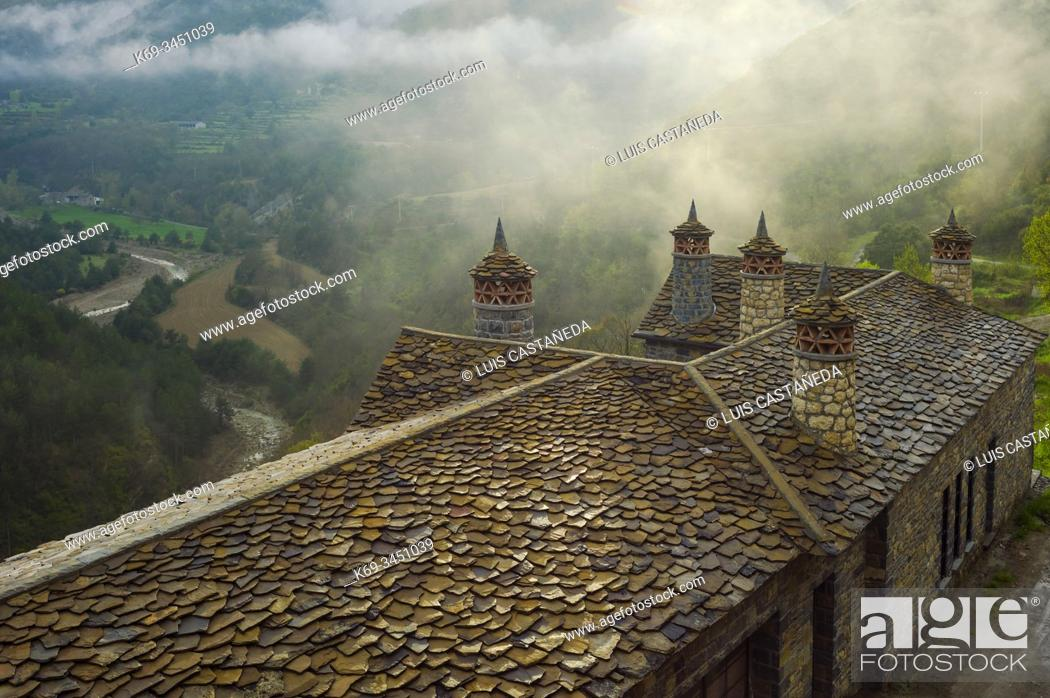 Stock Photo: House in the Pyrenees. Huesca. Spain.
