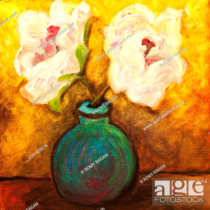 Imagen: 'Two Flowers' Acrylic on canvas. 2004. Private collection.