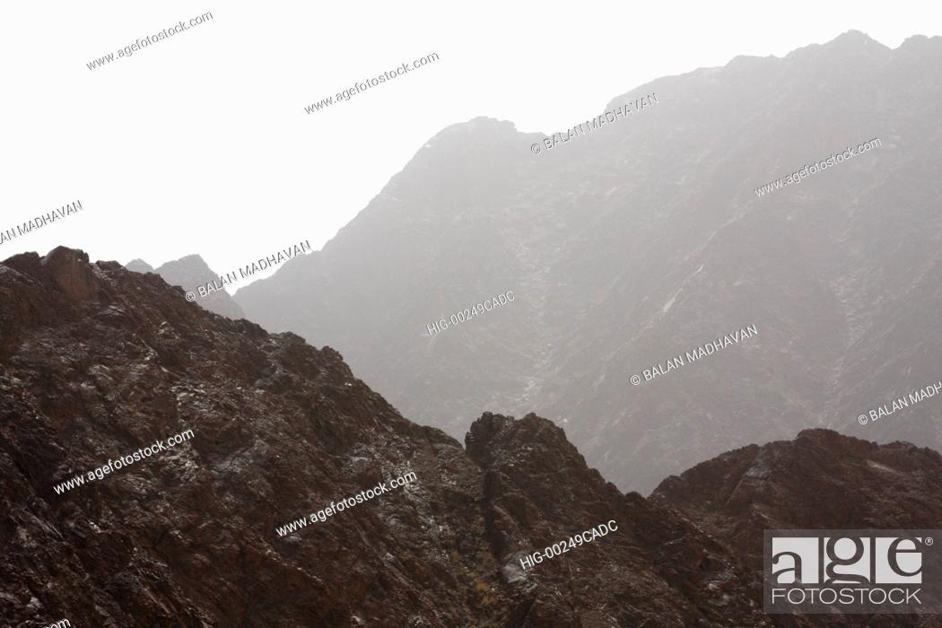Stock Photo: HATTA MOUNTAINS IN DUBAI.