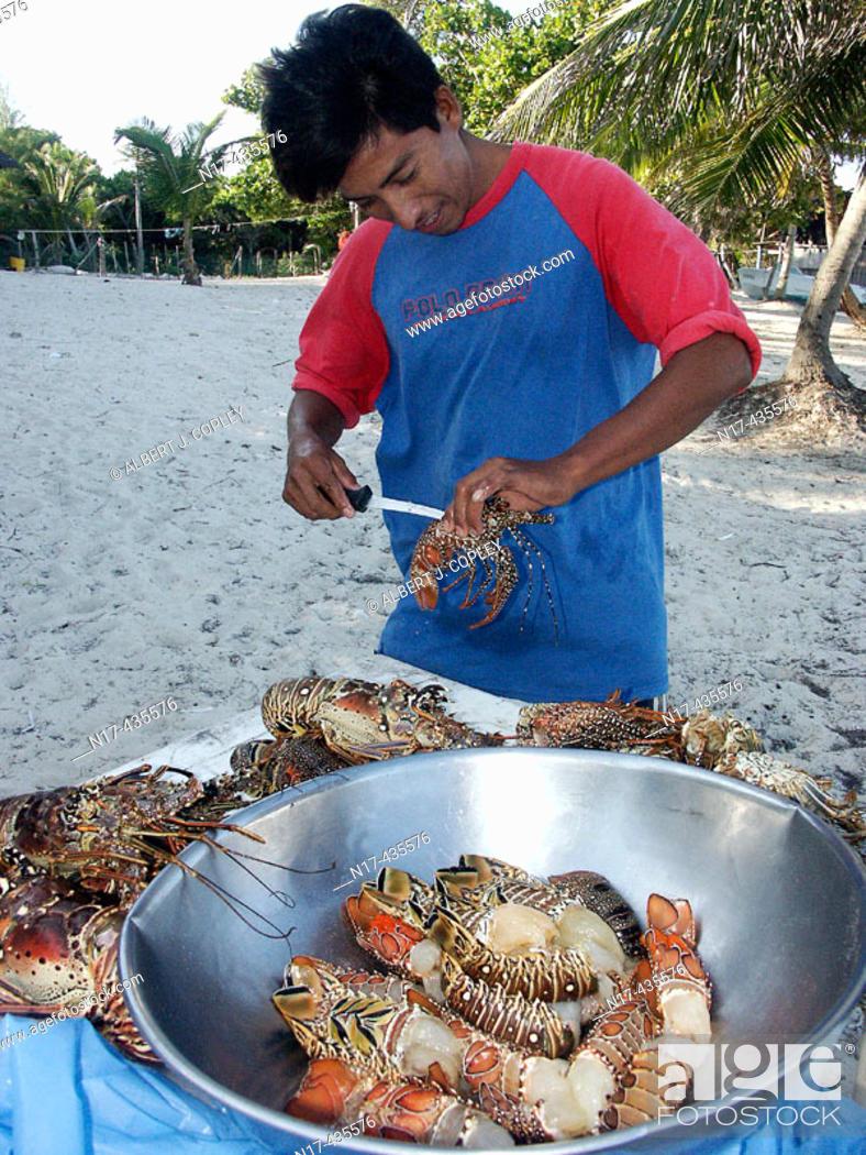 Stock Photo: Seafood in Mahahual, Mayan Riviera, Caribbean. Yucatán, Mexico.